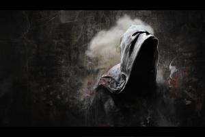 minimalism dark hoods digital art death