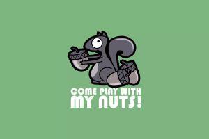 minimalism nuts squirrel humor