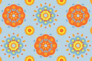 minimalism pattern flowers
