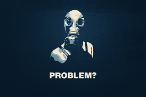 minimalism quote typography gas masks