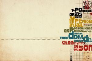minimalism typography creativity