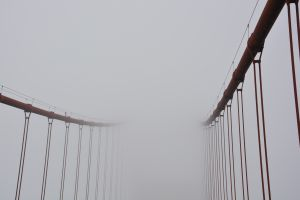 mist golden gate bridge usa