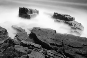 mist monochrome stones rock