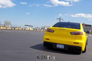 mitsubishi lancer evo x car vehicle mitsubishi yellow cars
