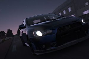 mitsubishi lancer evo x mitsubishi lancer evo le mans night project cars video games