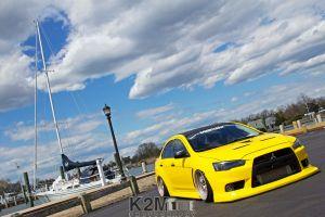 mitsubishi lancer evo x vehicle car mitsubishi yellow cars