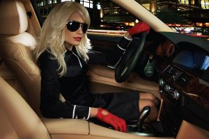 model car sunglasses women with cars women women with glasses blonde gloves car interior