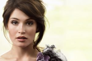 model gemma arterton celebrity actress portrait face white background women
