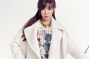 model girls' generation looking at viewer singer simple background asian women long hair snsd musician