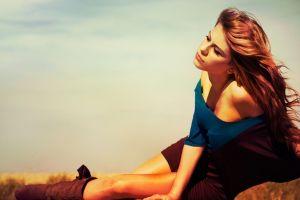 model long hair brunette outdoors women women outdoors