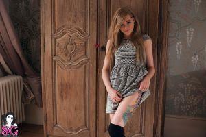 model maisie suicide smiling long hair pornstar tattoo blonde suicide girls women