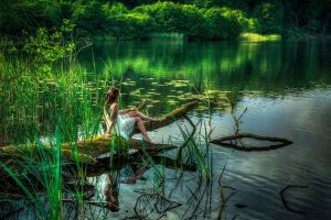 model water women women outdoors pond outdoors