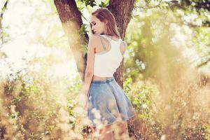 model women outdoors trees women outdoors
