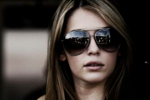 model women with shades women with glasses keeley hazell portrait women face