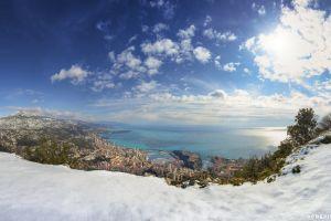 monaco sky landscape snow
