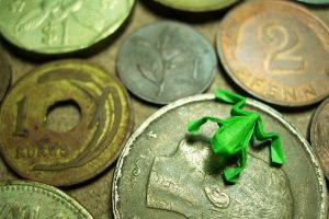 money frog coins paper origami