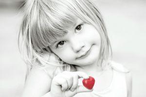monochrome children selective coloring smiling