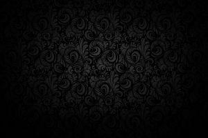 monochrome floral artwork minimalism pattern black dark