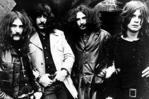 monochrome music long hair men black sabbath