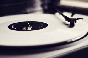 monochrome music vinyl gramophone