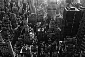 monochrome new york city city building cityscape