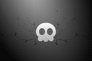 monochrome skull digital art