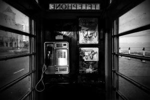 monochrome telephone urban