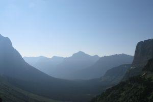 montana sky glacier national park landscape mountains mist