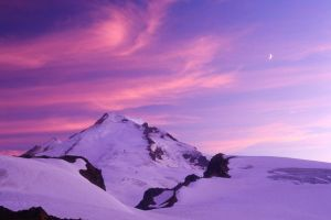 moon snow nature earth landscape mountains sky