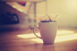 morning liquid coffee cup