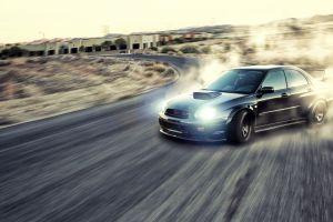 motion blur drift car subaru impreza wrx sti drifting road vehicle jdm subaru wrx sti