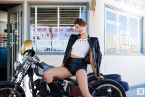 motorcycle playboy britt linn women leather jackets