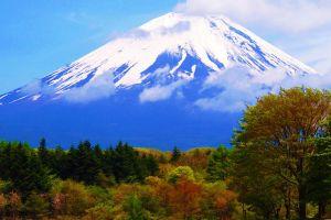 mount fuji landscape japan mountains nature volcano