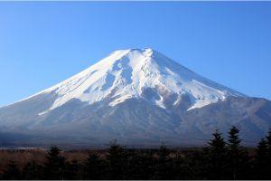 mount fuji volcano nature landscape mountains japan