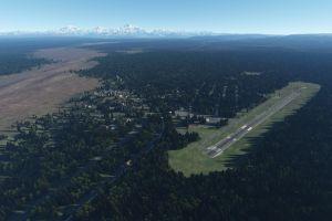 mountains digital art forest airport
