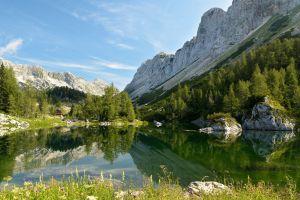 mountains nature reflection landscape