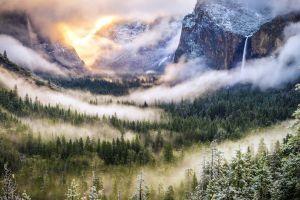 mountains sunlight landscape nature