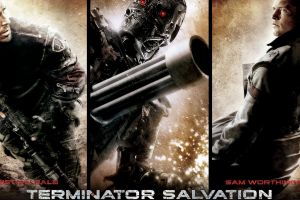movies collage movie poster terminator robot terminator salvation