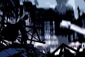 movies destruction silhouette batman messenjahmatt