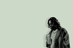 movies dude minimalism the big lebowski artwork monochrome