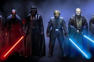 multiple display obi-wan kenobi luke skywalker star wars yoda emperor palpatine sith darth vader jedi