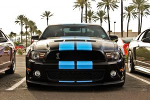 muscle cars car ford mustang shelby gt vehicle black paint blue stripes