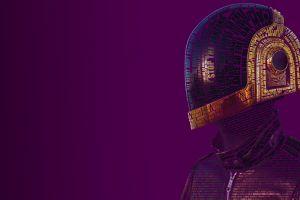 music daft punk typographic portraits typography purple