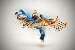 music simple background women digital art blonde dancer artwork