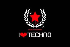 music typography techno
