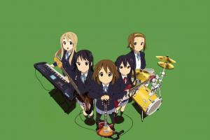 musical instrument akiyama mio anime anime girls guitar nakano azusa hirasawa yui kotobuki tsumugi k-on! tainaka ritsu