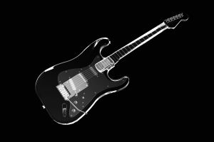 musical instrument monochrome guitar