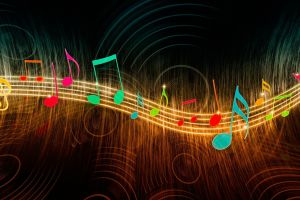 musical notes music colorful