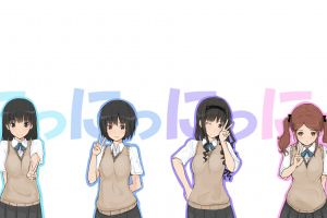 nakata sae amagami ss simple background anime anime girls nanasaki ai ayatsuji tsukasa white background morishima haruka