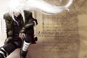 naruto shippuuden white hair anime boys